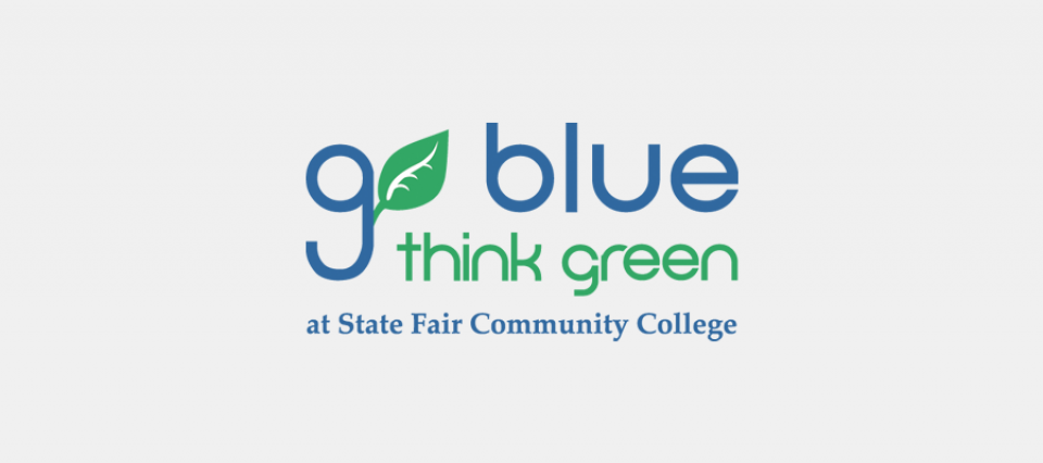 SFCC Go Blue Think Green logo