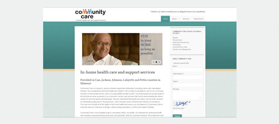 Community Care website
