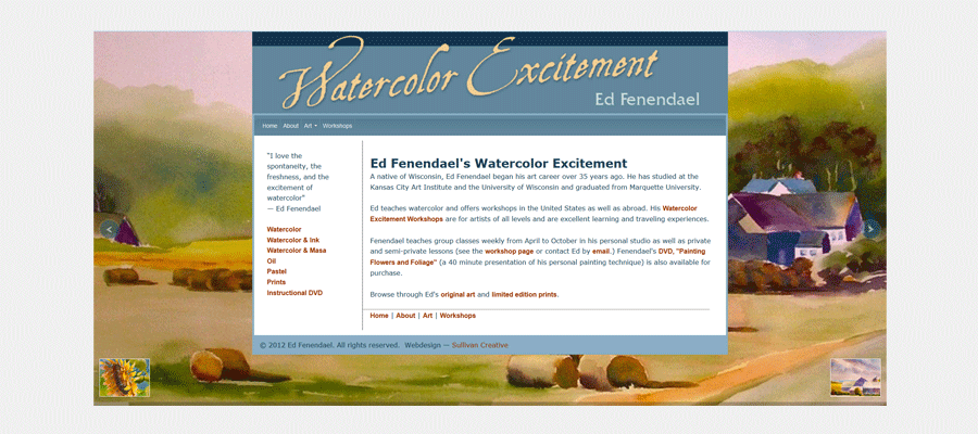 Watercolor Excitement - website design by Sullivan Creative