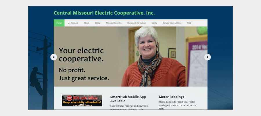 Central MO Electric Cooperative - website design by Sullivan Creative