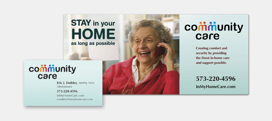 Community Care Brochure and Business Card