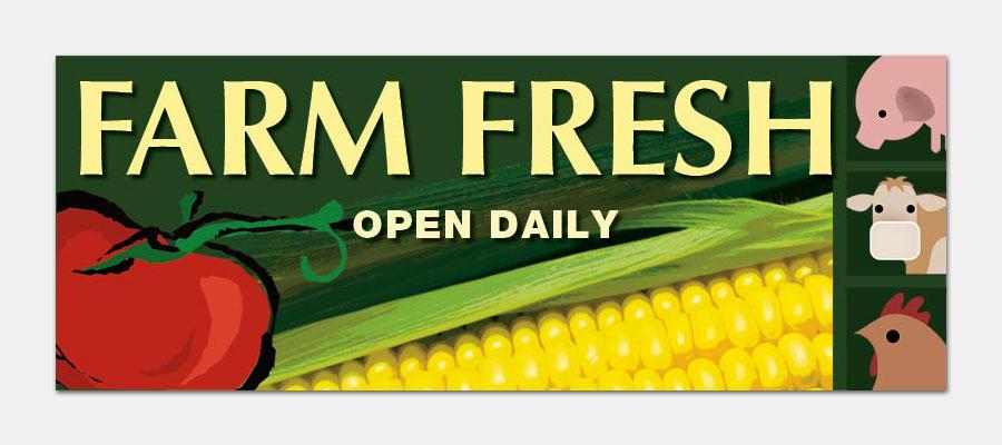 Marshall's Farm Market Banner
