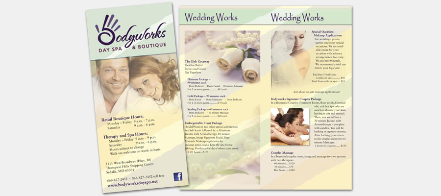 Bodyworks Day Spa Brochure