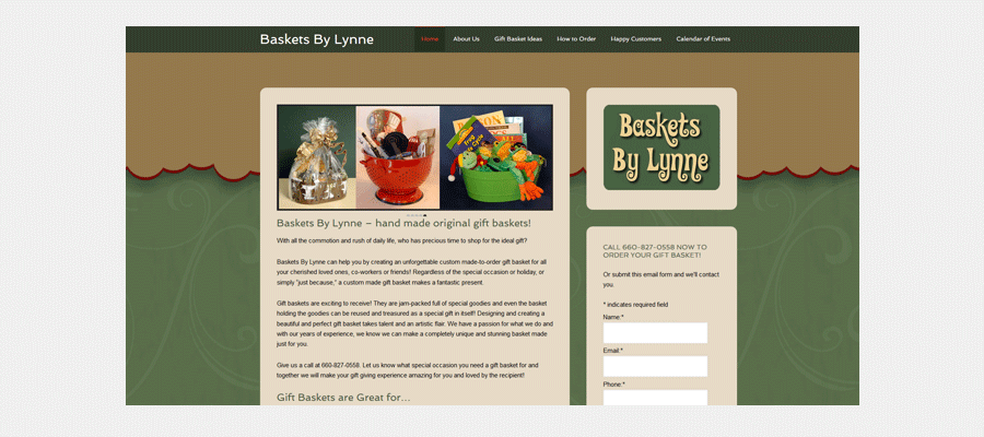 Baskets By Lynne - website design by Sullivan Creative