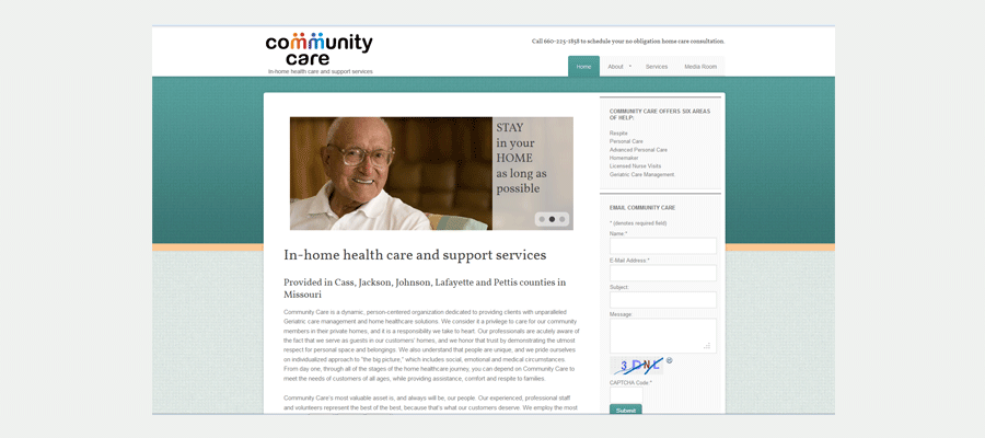 Community Care website