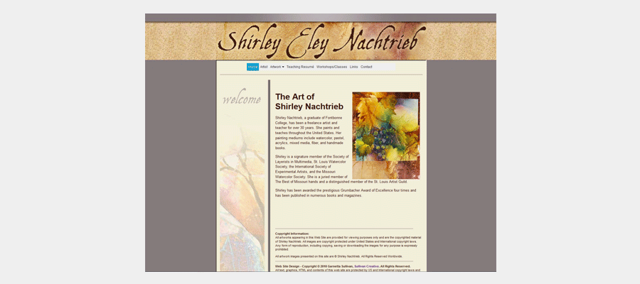 Shirley Nachtrieb website
